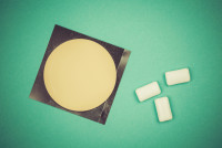 Picture of nicotine patch and chewing gum