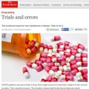 The Economist reports on the 'flawed' evidence base for new medicines