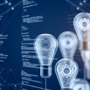 image of lightbulbs and text
