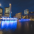 Picture of Toronto at night.
