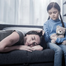 Do psychosocial interventions help parents reduce how often they drink heavily or use drugs?