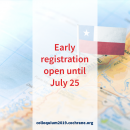 Early Bird Colloquium Registration Deadline: July 25