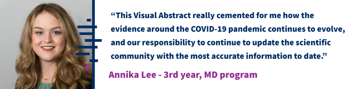 """This Visual Abstract really cemented for me how the evidence around the COVID-19 pandemic continues to evolve, and our responsibility to continue to update the scientific community with the most accurate information to date."""