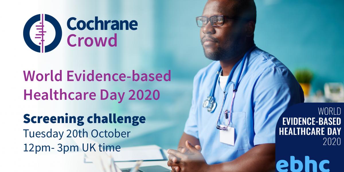 Cochrane Crowd Screening Challenge graphic