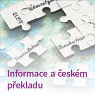 Informace a českém překladu