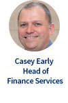 Casey Early, Head of Finance Services