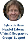 Sylvia de Haan, Head of External Affairs & Geographic Groups' Support