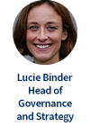 Lucie Binder, Head of Governance and Strategy